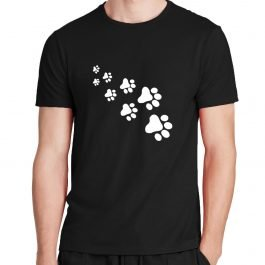Paw Print Cotton Casual T-Shirt