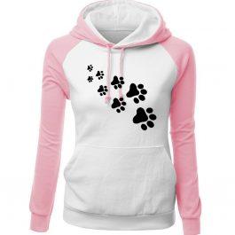Winter Fleece Women's Sportswear PAWS Print Sweatshirt