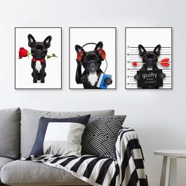 Bulldog Posters Print Canvas Painting