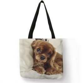 Charles Spaniel Dog Print Tote Bag