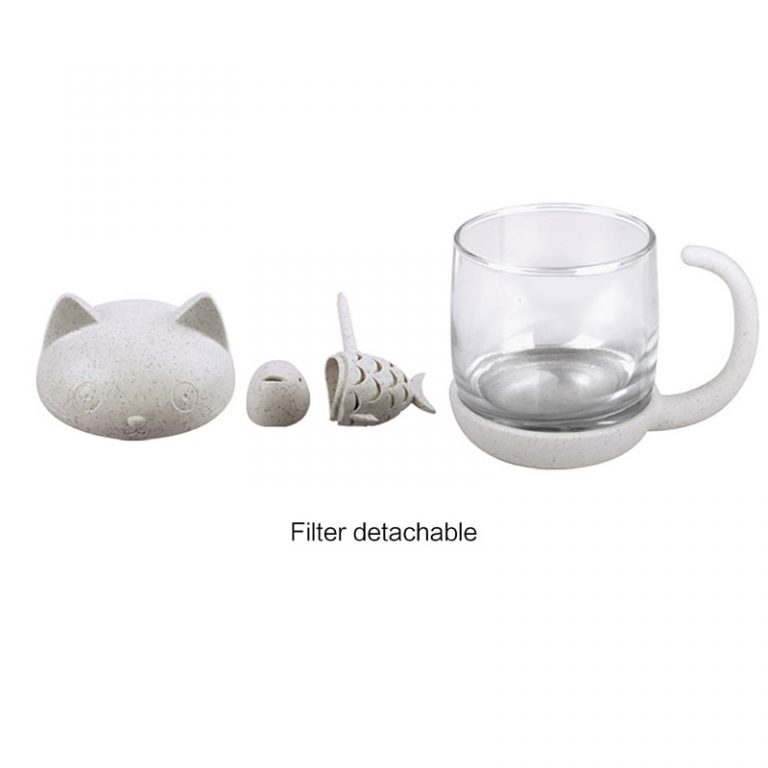 tea infuser cat cup pieces top