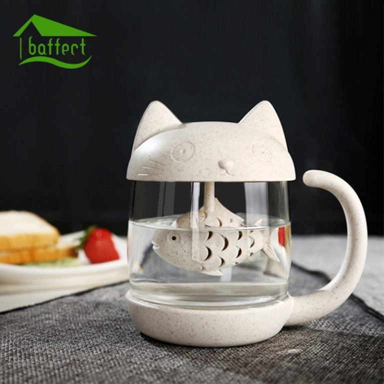 tea infuser cat cup