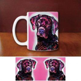 Fashion Labrador Coffee Mugs Funny King Dog Creative Animal White Ceramic Mug Custom Birthday Gifts For Family Friends Children