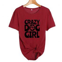 Crazy Dog Girl T Shirt