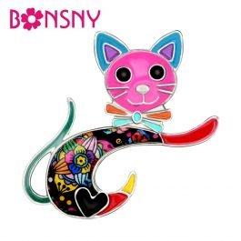 Cartoon Cat Kitten Brooches Cute Animal